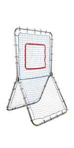 Champion Sports Rebound Pitchback Net, Adjustable Training Bounceback Screen