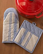 pot holders;oven mitts;kitchen linen set;potholders;pot holders and oven mitts