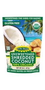 Unsweetened Organic Shredded Coconut