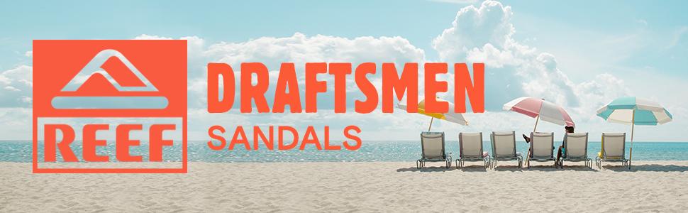 REEF Draftsmen Leather sandals beach freely