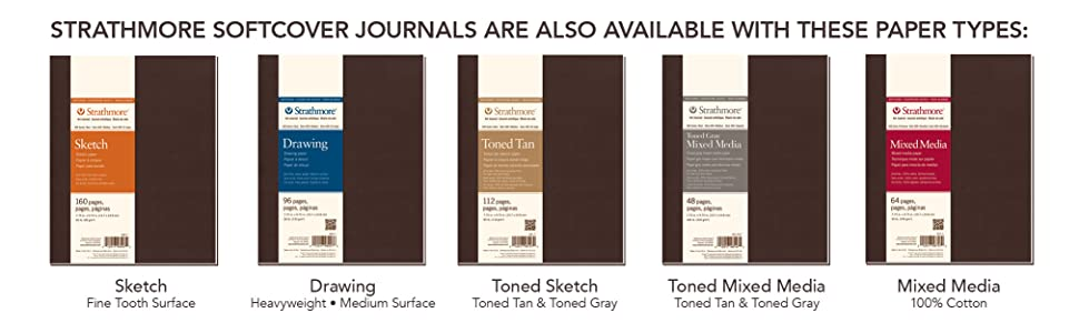 Softcover Drawing Journals