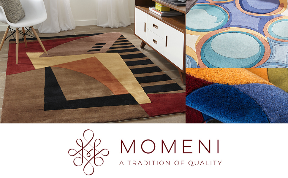 momeni new wave rug nw traditional carpet china transitional detail carve hand tufted pomegranate