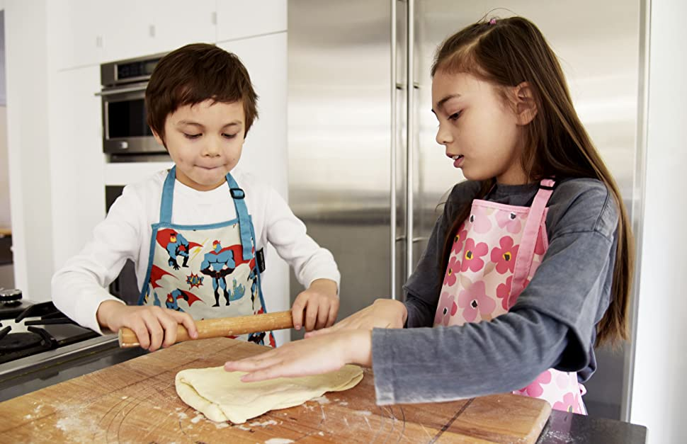 Urban Infant Kids Cooking Apron Little Helpers in Kitchen Rolling Dough