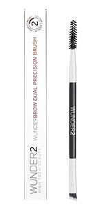 eyebrow brush, eyebrow, spoolie brushes, eyebrow pencil, wunderbrow, wunder2, dual brush
