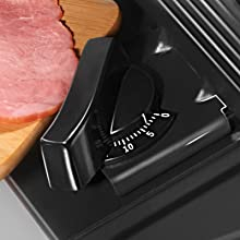 deli style, removable blade,blade safety guard,non-slip feet,die-cast, appetizers,ham