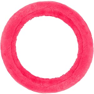 hot pink fuzzy furry steering wheel cover
