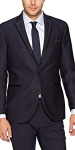 Kenneth Cole New York Mens Double Breasted Modern Fit 6 Button Suit