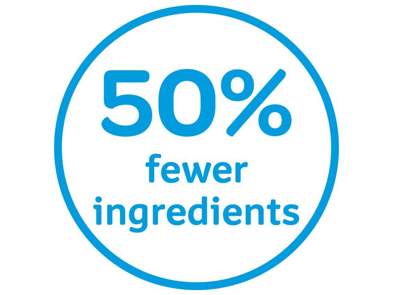 Fewer Ingredients