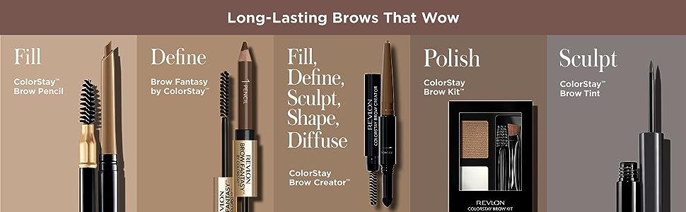 Revlon Colorstay Brow Creator Kit With Micro Eyebrow Pencil, Eyebrow Spoolie Brush & Eyebrow Powder