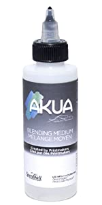 akua, blending medium, printmaking ink, speedball