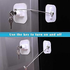 Refrigerator Door Locks 1 Pack Black
