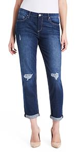 vintage america blues Gratia bestie boyfriend tomboy roll cuff jeans