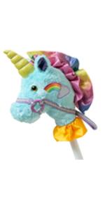 unicorn stick horse toy