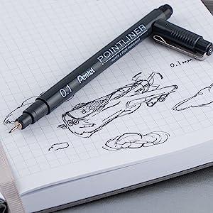 ink, pentel, arts, doodle, pointliner