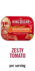 Tomato, sardines, protein, meal