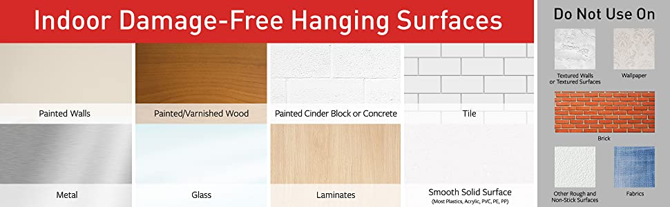 Indoor Damage-Free Hanging Surfaces