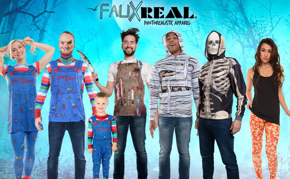 Chucky Halloween Costume Candy Corn Skeleton Horror Blood Cosplay Mummy
