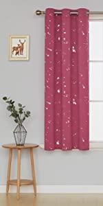 foil print blackout curtains panels drape for bedroom living room kidsroom office sliding glass door