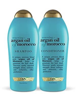 Argan Oil of Morocco set salon large silky soft hair breakage gold cap ogx