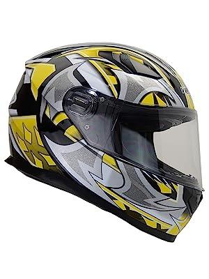 ultra vega helmets yellow shuriken graphic street bike helmet