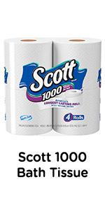 Need large toilet paper rolls? Scott 1000 bath tissue has 1000 sheets in every long-lasting roll.