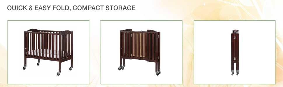 dream on me, portable crib, birch, 2 in 1, playpen