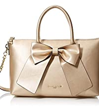 Satchel Handbag with Bow