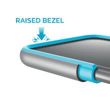 Raised bezel screen protection