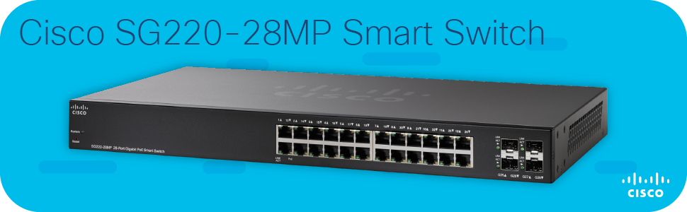 Cisco SG220-28MP Smart Switch