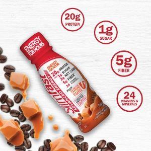 energy caramel latte