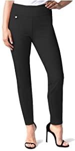 Easy Fit Ankle Pant for Women Wear to Work Slimming Stretch Knit Fabric Fashion Comfort