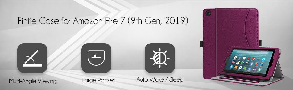Fire 7 case 2019 kids edition sleeve bag flip folding magnetic Kickstand Shockproof slim shell light