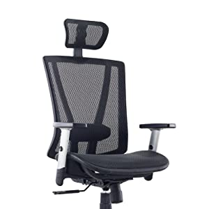 ergonomic office chair, adjustable office chair, black mesh office chair
