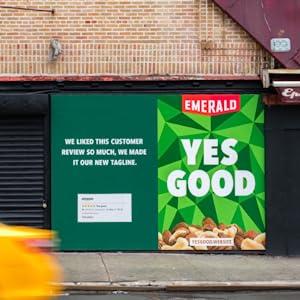 yes good, emerald nuts, cashews, advertisement