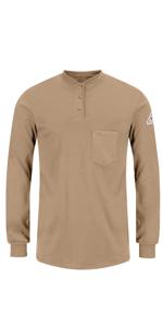 Womens Bulwark FR Flame Resistant Henley Long Sleeve Shirt