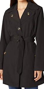 Double Lapel Mid Length Trench Coat