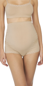 natori; bliss; maternity; full panel boyshort; boyshort; maternity underwear
