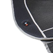 heating and cooling cushion, heated seat cushion, cooling seat cushion, vented seat pad, chair pad
