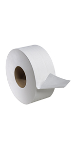 "Tork Universal TJ0922A Jumbo Bath Tissue Roll, 2-Ply, 8.8"" Diameter"
