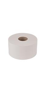 "Tork Advanced 12024402 Mini Jumbo Bath Tissue Roll, 2-Ply, 7.36"" Diameter, White"