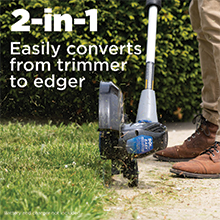 String trimmer 2 in 1 easily converts to an edger Westinghouse weed wacker lawn care trimmer edger