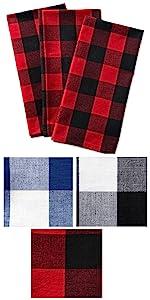 dish towels,plaid dish towels,tea towels,decorative dish towels,check dish towels