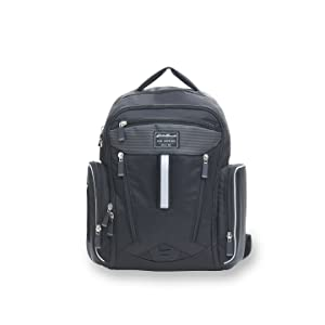 Black Diaper bag bookbag Eddie Bauer