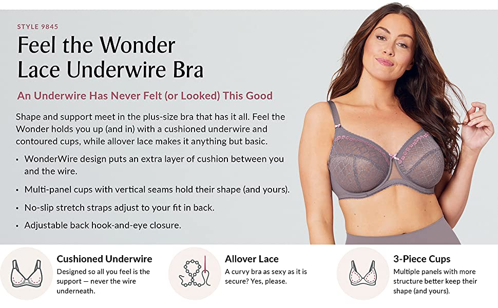 feel the wonder lace underwire bra wonderwire