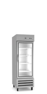 Stainless Steel Reach-In Commercial Refrigerator, 1 Glass Door, 23 cu.ft