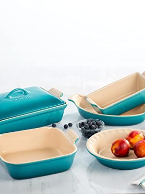 Le Creuset Stoneware shown in Caribbean