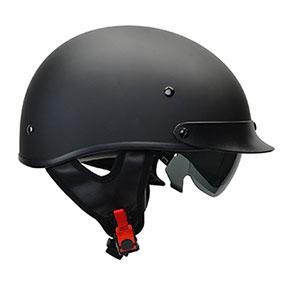 Black Warrior Motorcycle Half Helmet