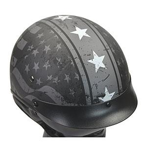 usa patriotic july 4th aggressive half helmet design