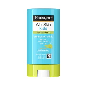 Neutrogena Wet Skin Water-Resistant Kids Sunscreen Face and Body Stick with Broad Spectrum SPF 70+