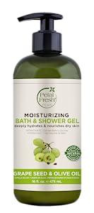 Petal Fresh, Bath & Shower Gel, Natural Beauty, Natural Ingredients, Cleansing Gel, Grape Seed